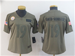 Pittsburgh Steelers #19 JuJu Smith-Schuster Women's 2019 Olive Salute To Service Limited Jersey