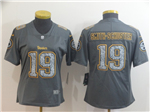 Pittsburgh Steelers #19 JuJu Smith-Schuster Women's Gray Camo Limited Jersey