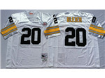 Pittsburgh Steelers #20 Rocky Bleier 1975 Throwback White Jersey