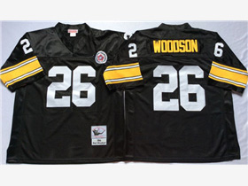 Pittsburgh Steelers #26 Rod Woodson 1994 Throwback Black Jersey