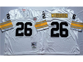 Pittsburgh Steelers #26 Rod Woodson 1994 Throwback White Jersey