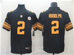 Pittsburgh Steelers #2 Mason Rudolph Black Color Rush Limited Jersey