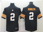 Pittsburgh Steelers #2 Mason Rudolph Alternate Black Vapor Untouchable Limited Jersey
