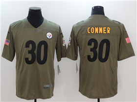 Pittsburgh Steelers #30 James Conner 2017 Olive Salute To Service Limited Jersey
