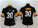 Pittsburgh Steelers #30 James Conner Women's Black Vapor Untouchable Limited Jersey