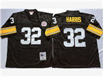 Pittsburgh Steelers #32 Franco Harris 1975 Throwback Black Jersey