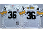 Pittsburgh Steelers #36 Jerome Bettis 1996 Throwback White Jersey