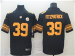 Pittsburgh Steelers #39 Minkah Fitzpatrick Black Color Rush Limited Jersey