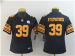 Pittsburgh Steelers #39 Minkah Fitzpatrick Women's Black Color Rush Limited Jersey