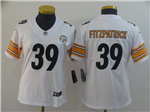 Pittsburgh Steelers #39 Minkah Fitzpatrick Women's White Vapor Untouchable Limited Jersey