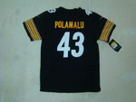 Pittsburgh Steelers #43 Troy Polamalu Youth Black Jersey