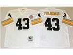 Pittsburgh Steelers #43 Troy Polamalu Throwback White Jersey