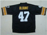 Pittsburgh Steelers #47 Mel Blount 1975 Throwback Black Jersey