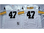 Pittsburgh Steelers #47 Mel Blount 1975 Throwback White Jersey