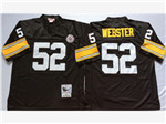 Pittsburgh Steelers #52 Mike Webster 1975 Throwback Black Jersey