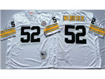 Pittsburgh Steelers #52 Mike Webster 1975 Throwback White Jersey