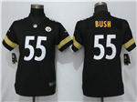 Pittsburgh Steelers #55 Devin Bush Women's Black Vapor Untouchable Limited Jersey
