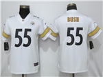 Pittsburgh Steelers #55 Devin Bush Women's White Vapor Untouchable Limited Jersey