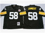 Pittsburgh Steelers #58 Jack Lambert 1975 Throwback Black Jersey