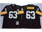 Pittsburgh Steelers #63 Dermontti Dawson Throwback Black Jersey