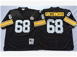 Pittsburgh Steelers #68 L.C. Greenwood 1975 Throwback Black Jersey