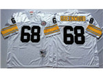 Pittsburgh Steelers #68 L.C. Greenwood 1975 Throwback White Jersey