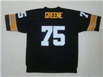 Pittsburgh Steelers #75 Joe Greene 1975 Throwback Black Jersey