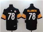 Pittsburgh Steelers #78 Alejandro Villanueva Black Vapor Untouchable Limited Jersey