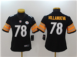 Pittsburgh Steelers #78 Alejandro Villanueva Women's Black Vapor Untouchable Limited Jersey