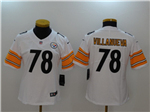 Pittsburgh Steelers #78 Alejandro Villanueva Women's White Vapor Untouchable Limited Jersey