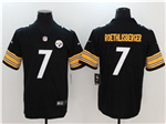 Pittsburgh Steelers #7 Ben Roethlisberger Black Vapor Untouchable Limited Jersey