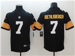 Pittsburgh Steelers #7 Ben Roethlisberger Alternate Black Vapor Untouchable Limited Jersey