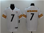 Pittsburgh Steelers #7 Ben Roethlisberger White Vapor Untouchable Limited Jersey
