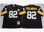 Pittsburgh Steelers #82 John Stallworth 1975 Throwback Black Jersey