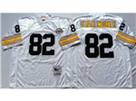 Pittsburgh Steelers #82 John Stallworth 1975 Throwback White Jersey