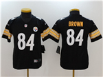 Pittsburgh Steelers #84 Antonio Brown Youth Black Vapor Untouchable Limited Jersey
