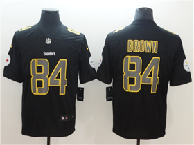 Pittsburgh Steelers #84 Antonio Brown Black Vapor Impact Limited Jersey