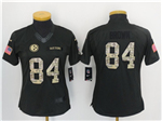 Pittsburgh Steelers #84 Antonio Brown Anthracite Women's Salute to Service Jersey