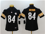 Pittsburgh Steelers #84 Antonio Brown Women's Black Vapor Untouchable Limited Jersey