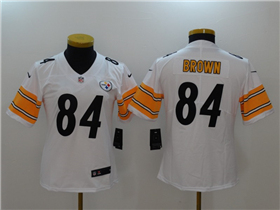 Pittsburgh Steelers #84 Antonio Brown Women's White Vapor Untouchable Limited Jersey