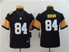1a3dd75fd Pittsburgh Steelers  84 Antonio Brown Youth Alternate Black Vapor  Untouchable Limited Jersey