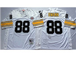 Pittsburgh Steelers #88 Lynn Swann 1975 Throwback White Jersey