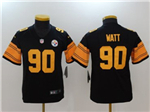 Pittsburgh Steelers #90 T.J. Watt Youth Black Color Rush Jersey