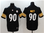 Pittsburgh Steelers #90 T.J. Watt Black Vapor Untouchable Limited Jersey