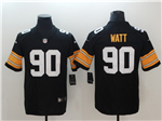 Pittsburgh Steelers #90 T.J. Watt Alternate Black Vapor Untouchable Limited Jersey