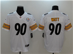 Pittsburgh Steelers #90 T.J. Watt White Vapor Untouchable Limited Jersey