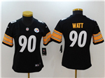 Pittsburgh Steelers #90 T.J. Watt Women's Black Vapor Untouchable Limited Jersey