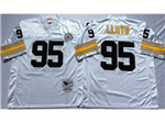 Pittsburgh Steelers #95 Greg Lloyd Throwback White Jersey