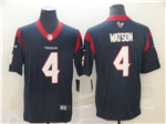 Houston Texans #4 Deshaun Watson Navy Vapor Untouchable Limited Jersey