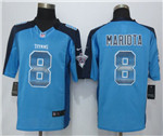 Tennessee Titans #8 Marcus Mariota Light Blue Pro Line Fashion Strobe Jersey